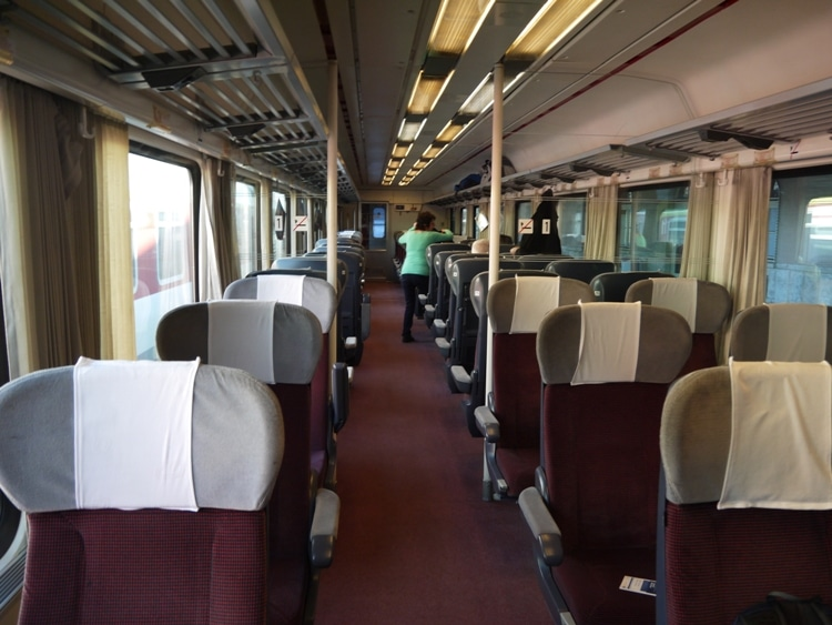 First Class Carriage On The Bratislava To Budapest Train