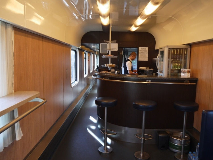 Restaurant Carriage On The Bratislava To Budapest Train