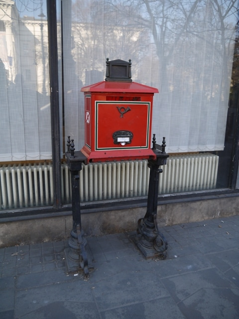 Red Postbox, Budapest