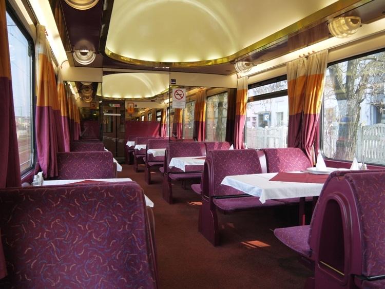 Restaurant Car On Budapest To Bratislava Train