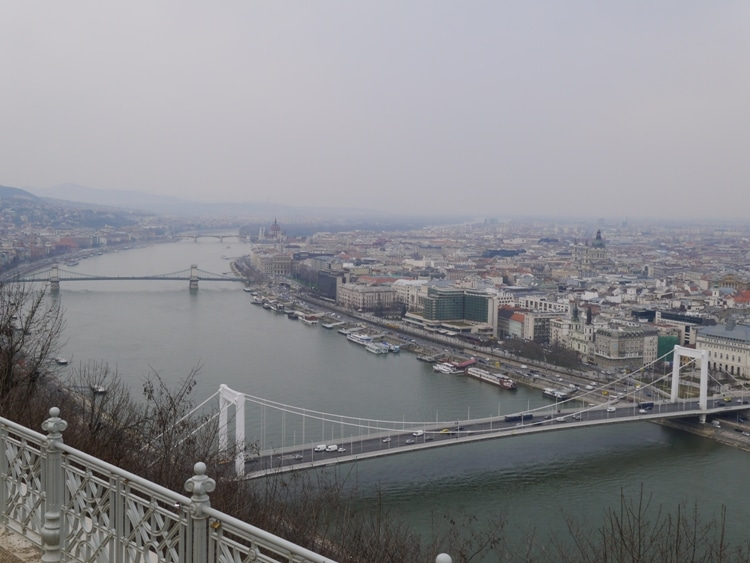 The River Danube As Seen From Gellert Hill, Budapest