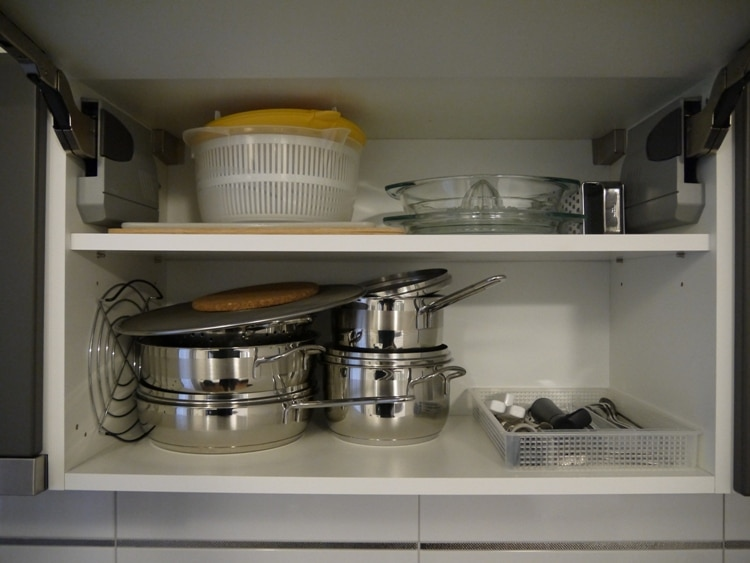 Well Stocked Kitchen Cupboard At Divota Apartment Hotel, Split
