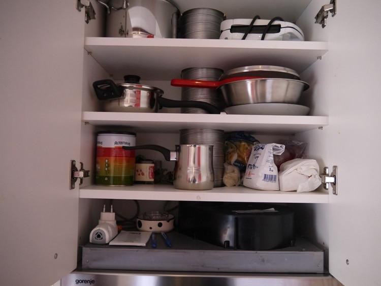 Kitchen Cupboard At Dosud Apartments, Split, Croatia