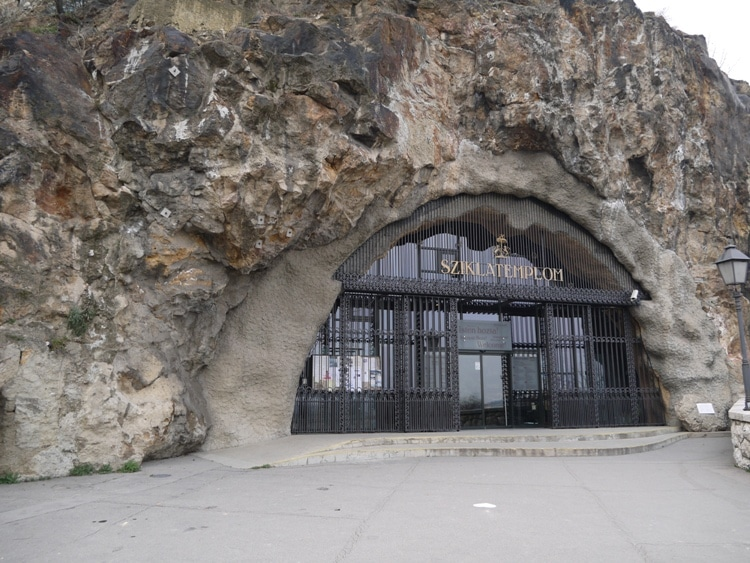 The Entrance To Gellert Hill Cave Chapel