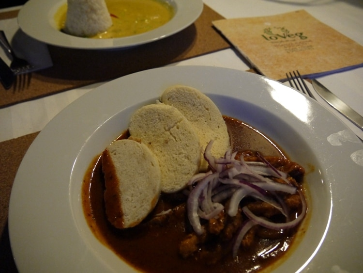 Goulash & Dumplings At LoVeg Vegan Restaurant, Prague