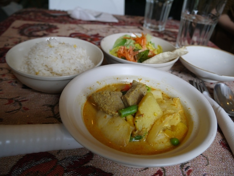 Curry, Rice & Salad At Loving Hut, Neubaugurtel, Vienna
