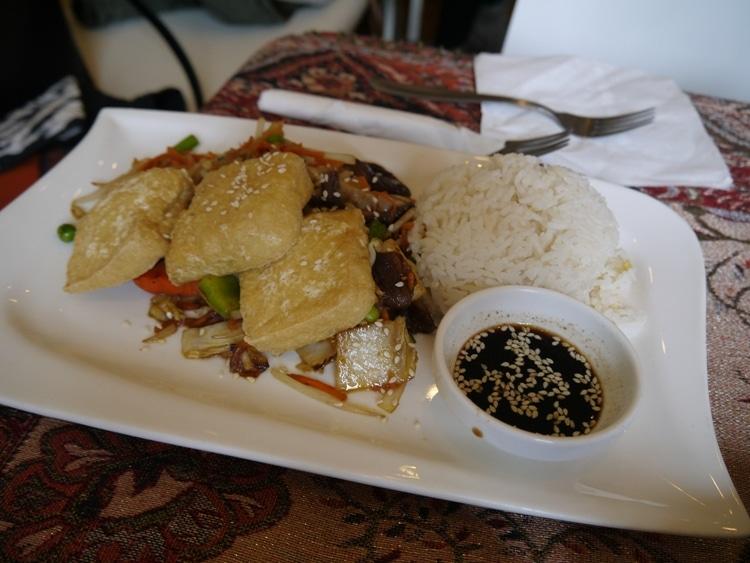 Tofu Steak, Stirfry & Rice At Loving Hut, Neubaugurtel, Vienna