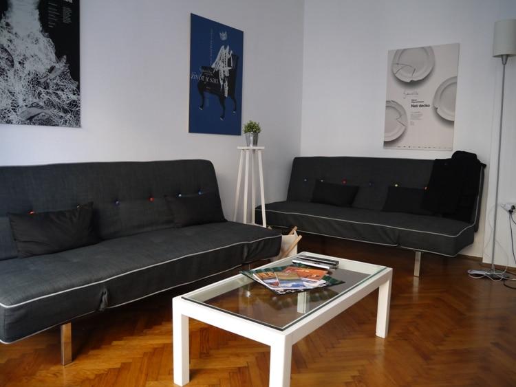 Living Room At Main Square Apartment, Zagreb