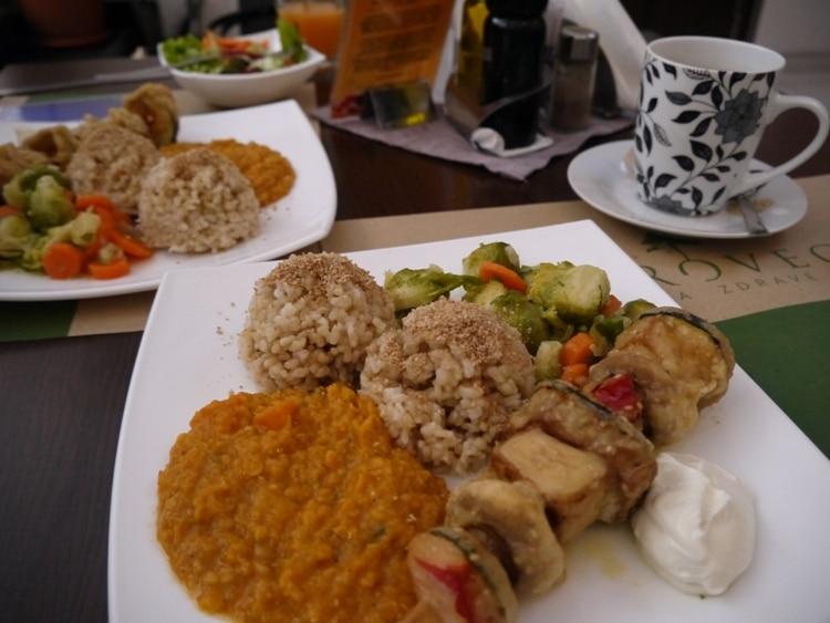 Macrobiotic Lunch At Makro Vega, Split, Croatia