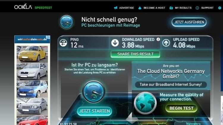 Wifi Speed Test At Park Inn, Alexanderplatz, Berlin