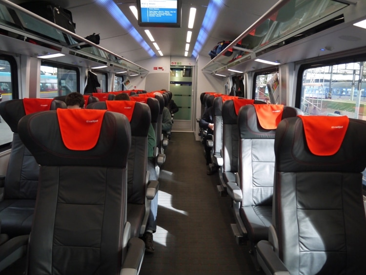 First Class Carriage On The Prague To Vienna Train