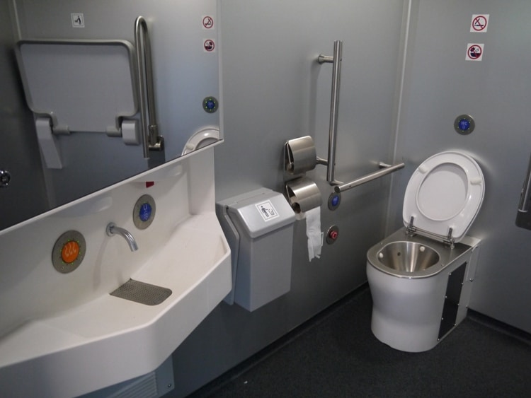 Toilet On The Prague To Vienna Train