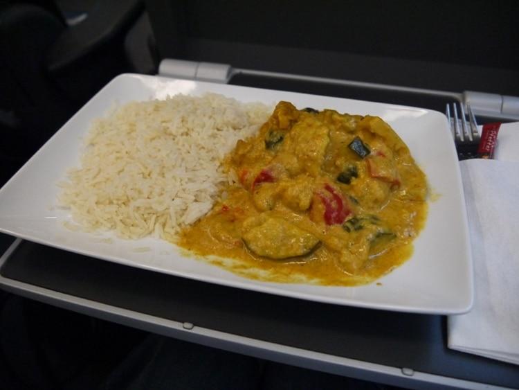 Vegetarian & Vegan Indian Curry On Railjet Vienna To Villach Train