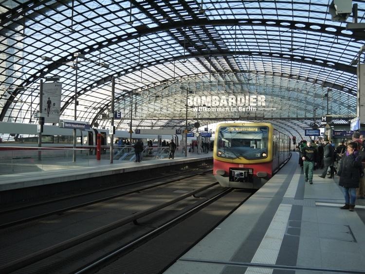 An S-Bahn Train At Berlin HBF Station