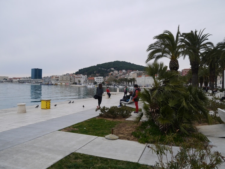 View Of Marjan Hill From The Riva, Split