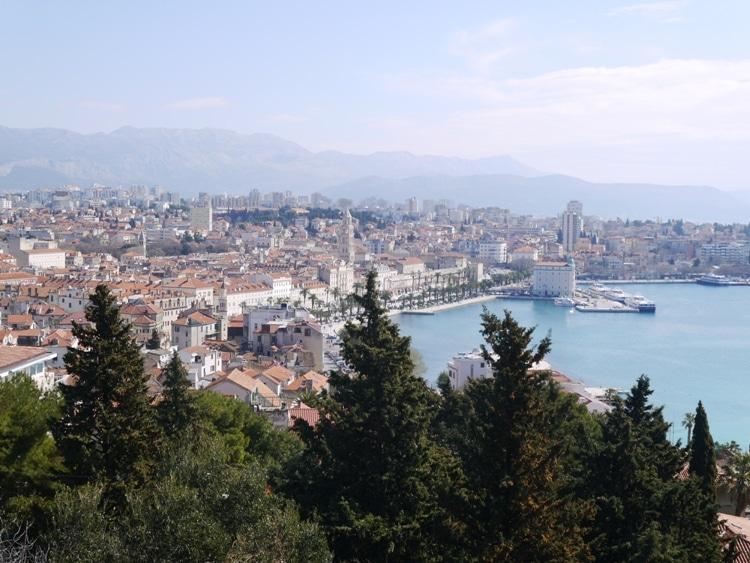 Split, As Seen From Marjan Hill in Croatia