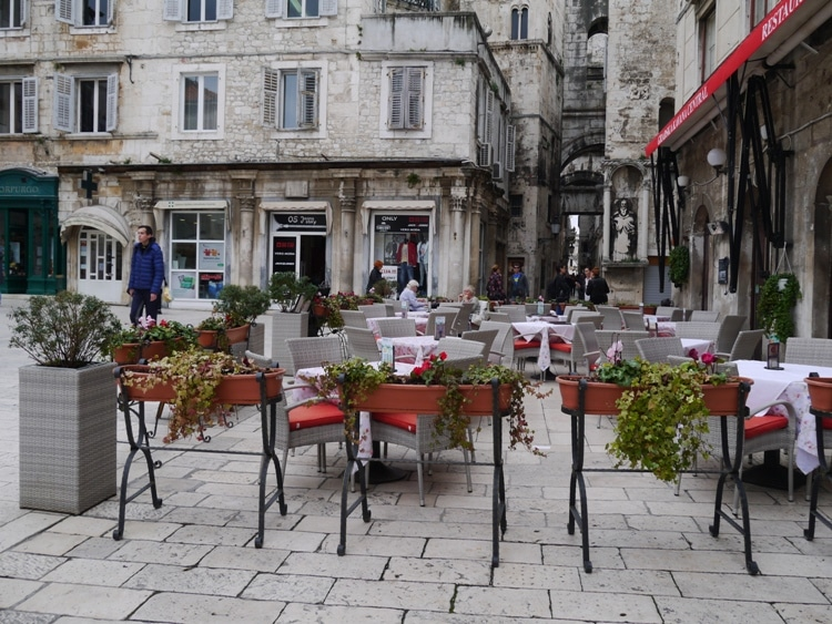 Outdoor Seating In Old Town Square, Split