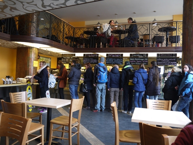 Lunchtime Queues At Vega City, Budapest, Hungary