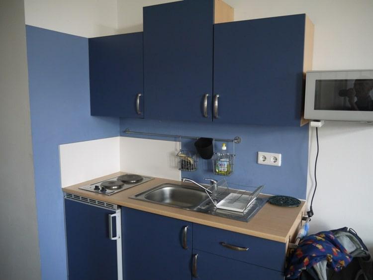 Kitchen At Airbnb Apartment In Vienna