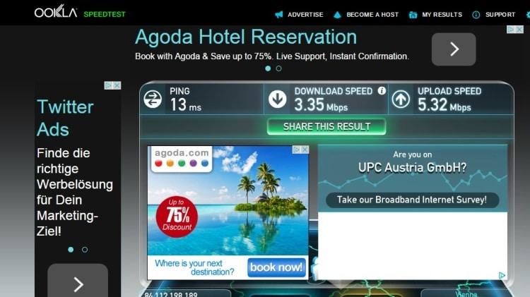 Internet Speed Test At Airbnb Apartment, Vienna
