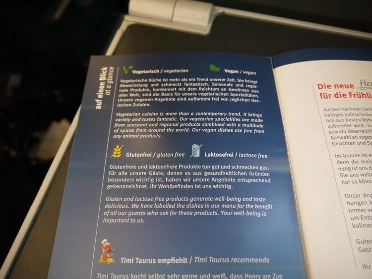 Vegetarian, Vegan, Gluten-Free & Lactose-Free Food On Railjet From Vienna To Villach