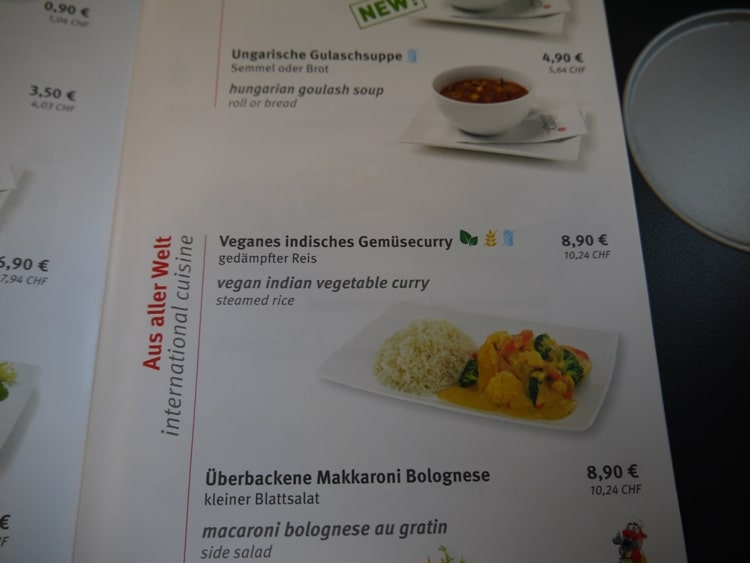 Vegan Indian Curry On Railjet From Vienna To Villach
