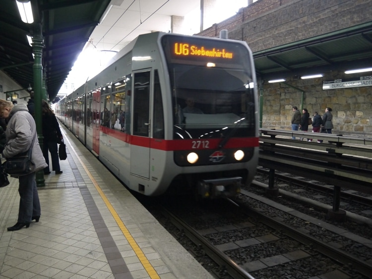 A U-Bahn Train In Vienna