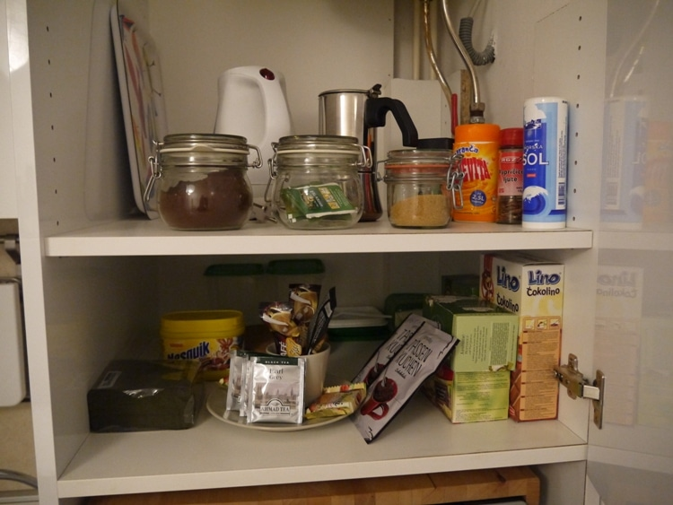 A Well-Stocked Food Cupboard At Zagreb Center Apartments