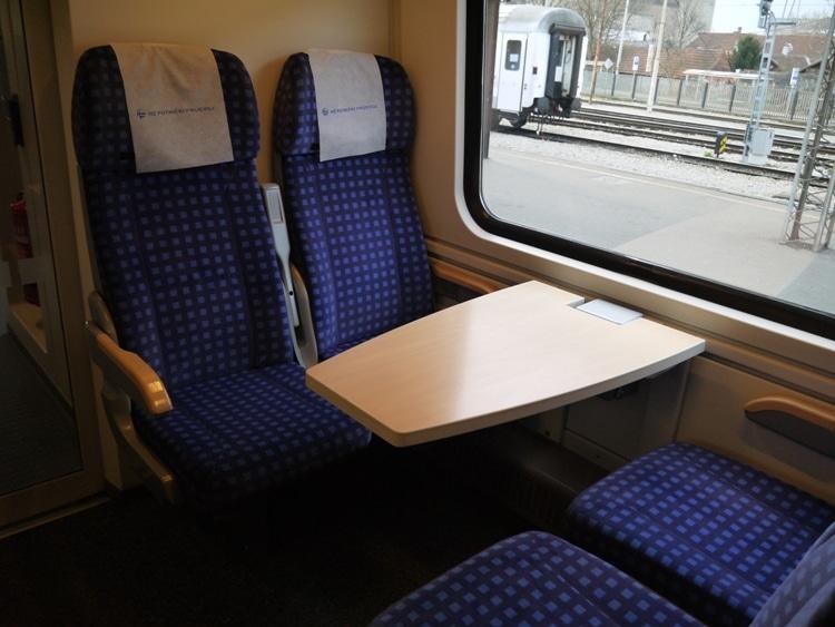 Table Seats On Zagreb To Split Train