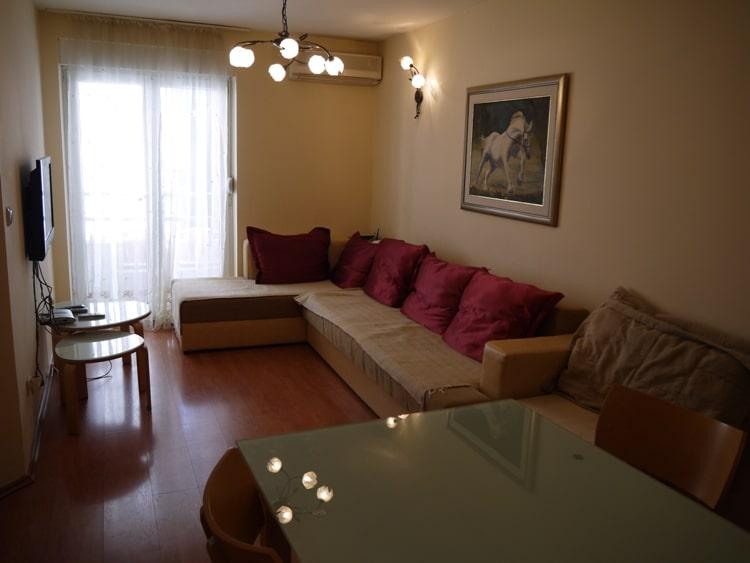 Living Room At Apartments Adriatic Budva