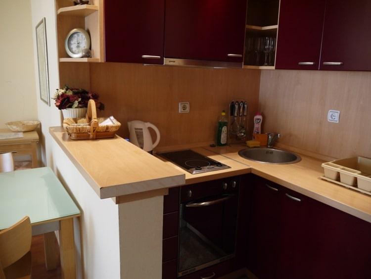 Kitchen At Apartments Adriatic Budva