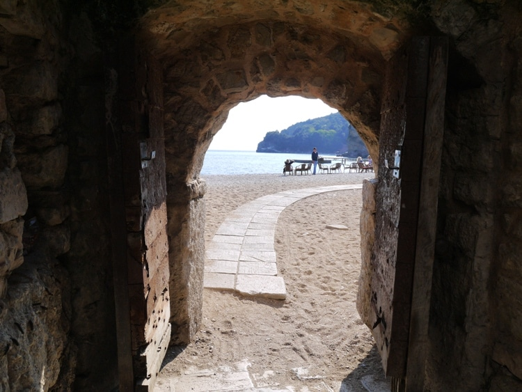 Door To The Beach, Budva Old Town, Montenegro