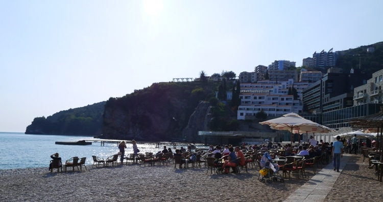 Beach Cafe, Budva Old Town, Montenegro