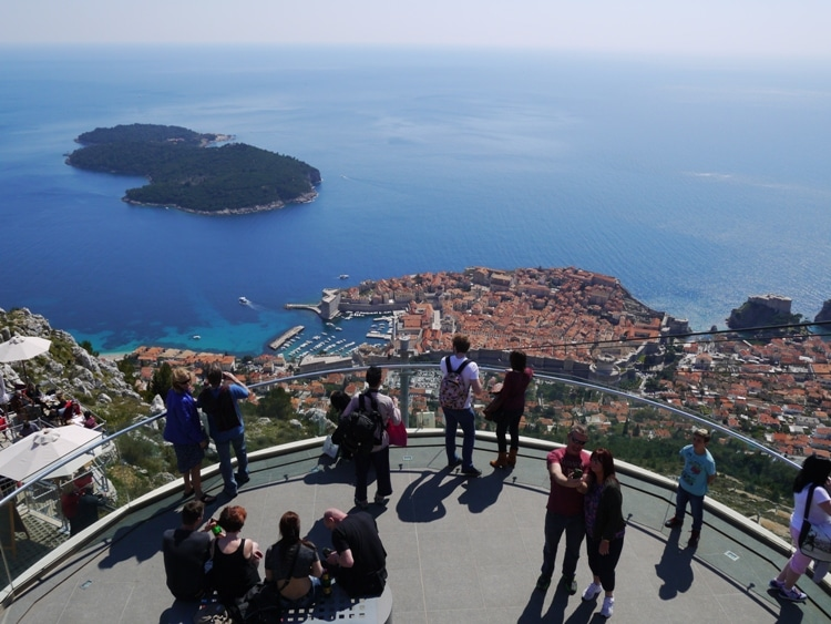 View Terrace At Upper Cable Car Station, Dubrovnik