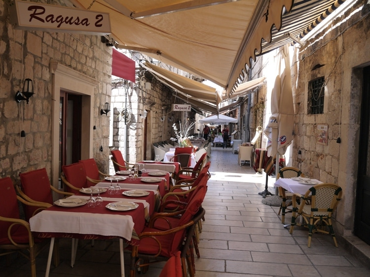 A Restaurant In Old Town Dubrovnik