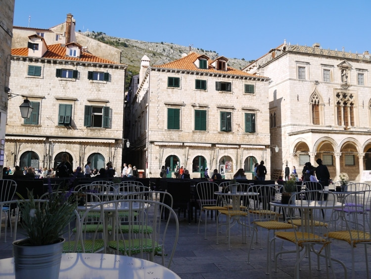 A Cafe In Old Town Dubrovnik