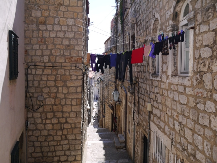Washing Hanging Out To Dry In Dubrovnik Old Town