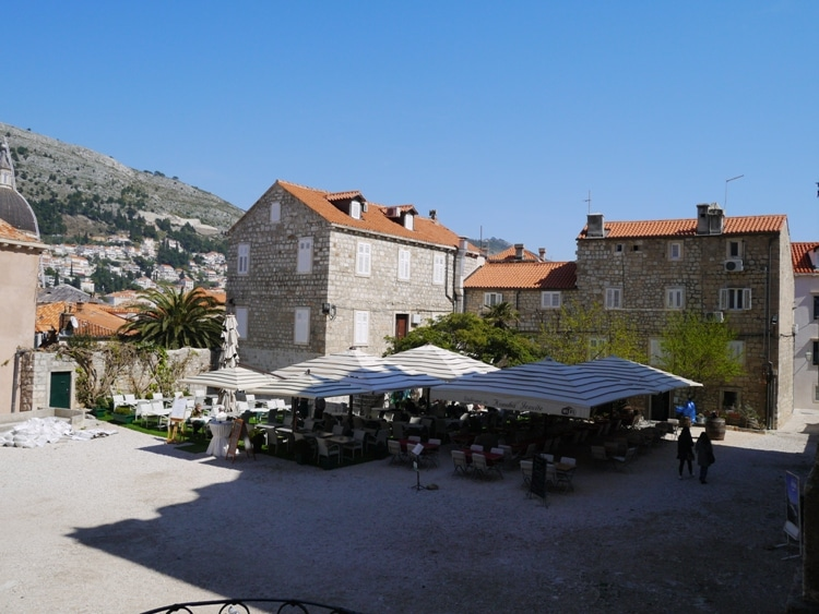 A Restaurant Next To Dubrovnik Cathedral