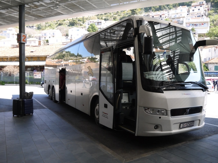 Our Gobtour Bus At Dubrovnik Bus Station