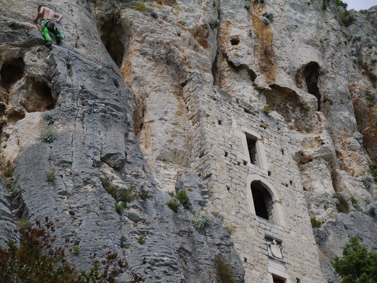 Rock Climbing Next To The Hermitage Caves, Marjan Hill, Split, Croatia