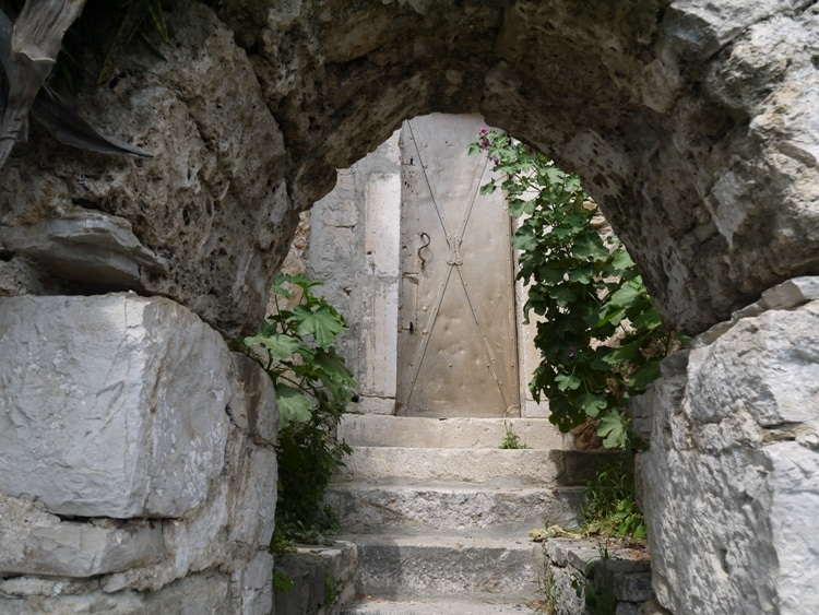 Steps leading up to the St. Jerome Church door in Split Croatia
