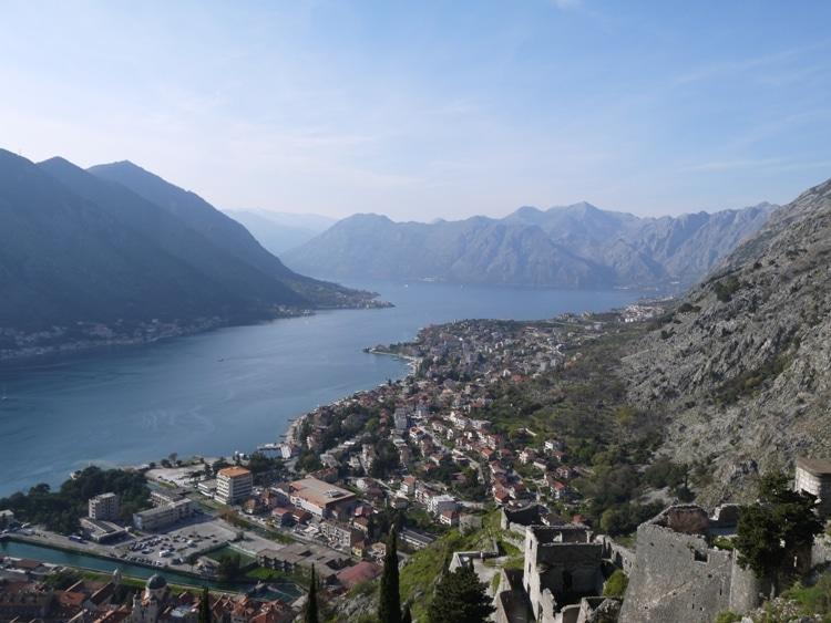 View Of Kotor Bay From Kotor Fortress