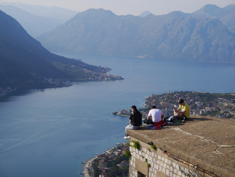 Enjoying A Few Beers At Kotor Fortress