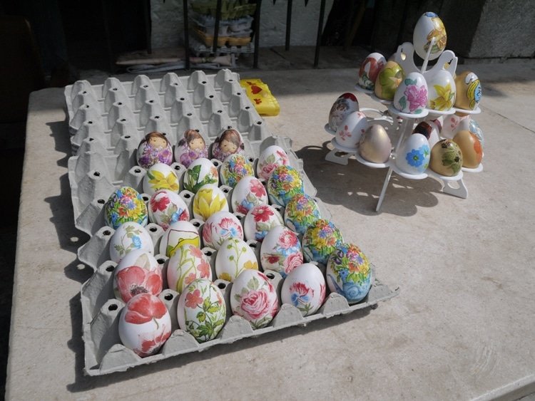 Painted Eggs For Easter, Kotor Market