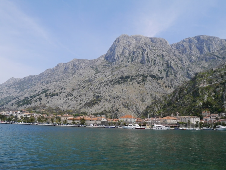 Kotor Old Town As Seen From Opposite Side Of The Harbor