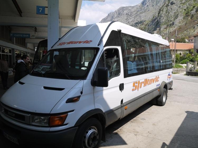 Our Minibus From Kotor To Budva, Montenegro