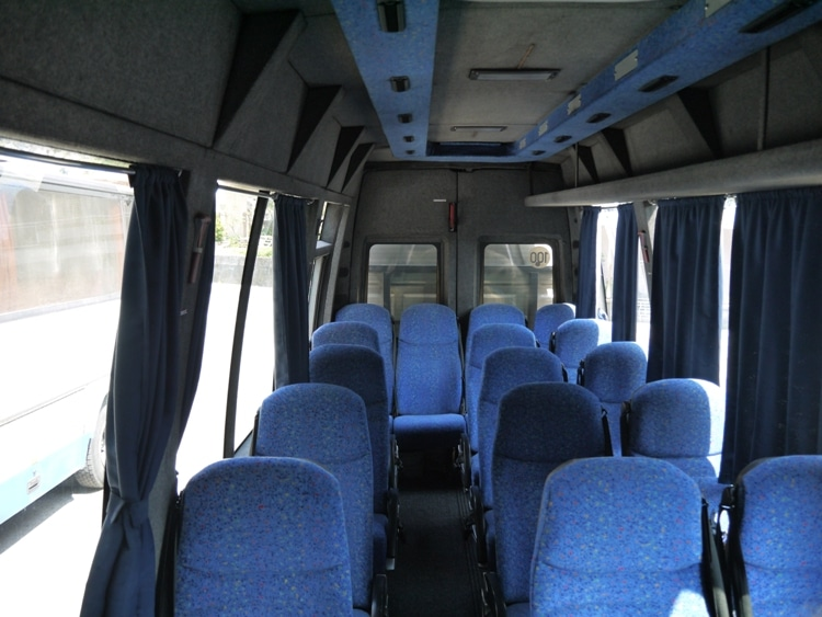 Inside Our Minibus From Kotor To Budva, Montenegro