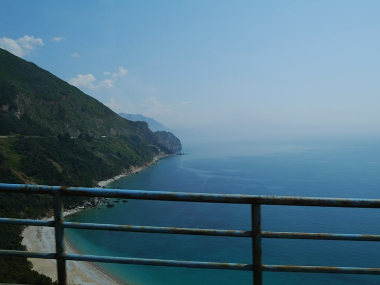 View From The Kotor To Budva Bus