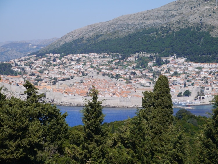 View Of Dubrovnik From Fort Royal Castle, Lokrum Island