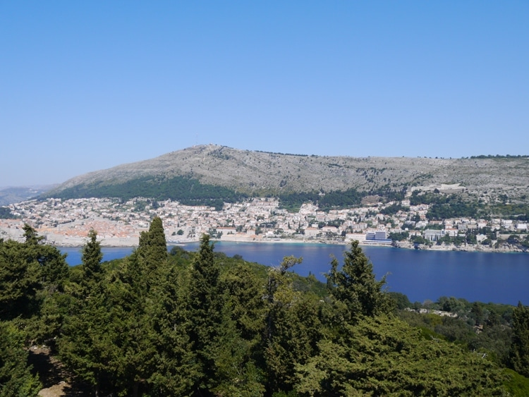 View Of Dubrovnik & Mountains From Fort Royal Castle, Lokrum Island